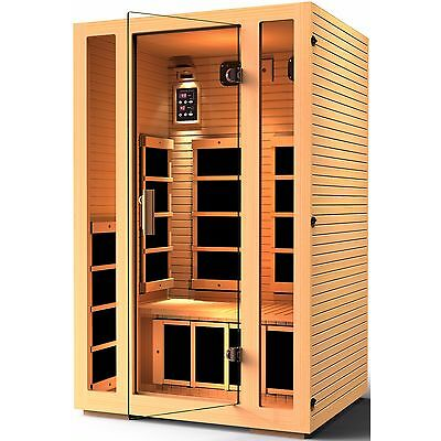 JNH Lifestyles 2 Person Far Infrared Sauna 7 Carbon Heater, Recovered Unit