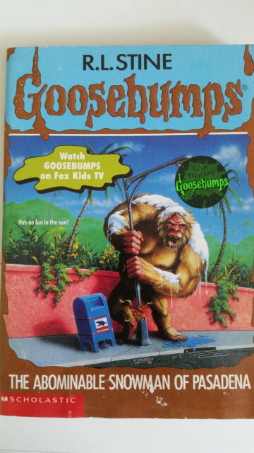 Goosebumps #38 'The Abominable Snowman of Pasadena', R.L. Stine, Paperback(1995)