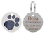 Personalised-Engraved-Round-Glitter-Paw-Print-Dog-Cat-Pet-ID-Tag-Small-Large thumbnail 2