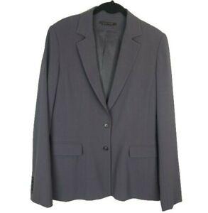 Elie-Tahari-Gray-2-Button-Blazer-Jacket-Womens-Size-10-Business-Career-Office