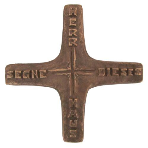 10cm Bronze croix le bonheur familial 10cm