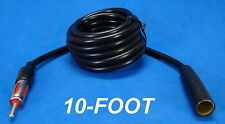 """120"""" 10 FOOT AUTO ANTENNA EXTENSION CORD ANT MALE FEMALE CAR AM FM ADAPTER CABLE"""