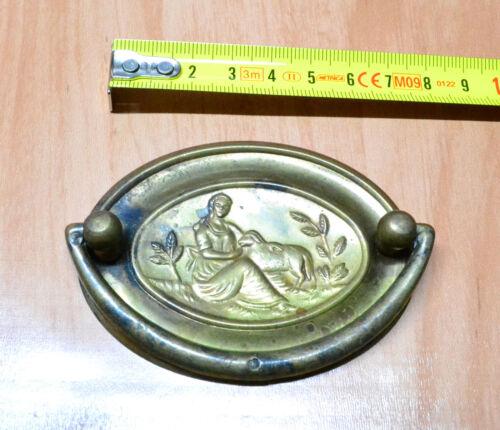 Maniglietta MOBILI ANTICHI Restauro in Ottone anticato Ovale