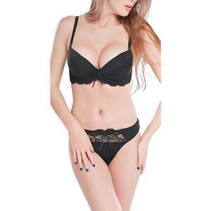 7840eb266 Padded Full-figure Unlined Bra Set Underwear and Panties Black White ...