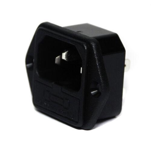 2pc AC IEC Fused Inlet Socket 3P 10A 250V Screw Type JR-101-1F JEC Taiwan