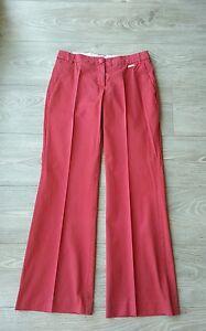 Pantalon-large-rouge-MANGO-taille-36