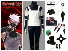 Custom-made Naruto Shippuude Hatake Kakashi Anbu Cosplay Costume Set