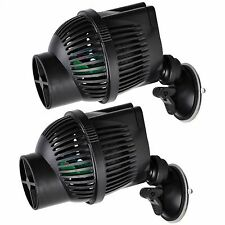 2 PCS Circulation Pump Wave Maker 1300 GPH Aquarium Powerhead Suction Cup Mount