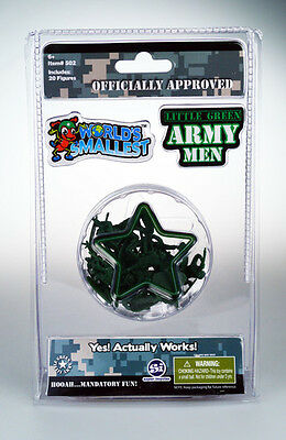 Worlds Smallest Little Green Army Men (2016, Toy New)