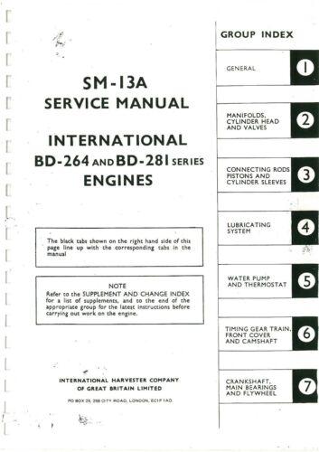 International BD264 BD281 Diesel Eng Service Manual B450 BMD BTD6 BWD6 DOWNLOAD