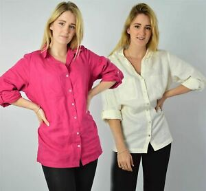 YESSICA-Linen-Blouse-Shirt-in-Pink-or-Ivory-RRP-25