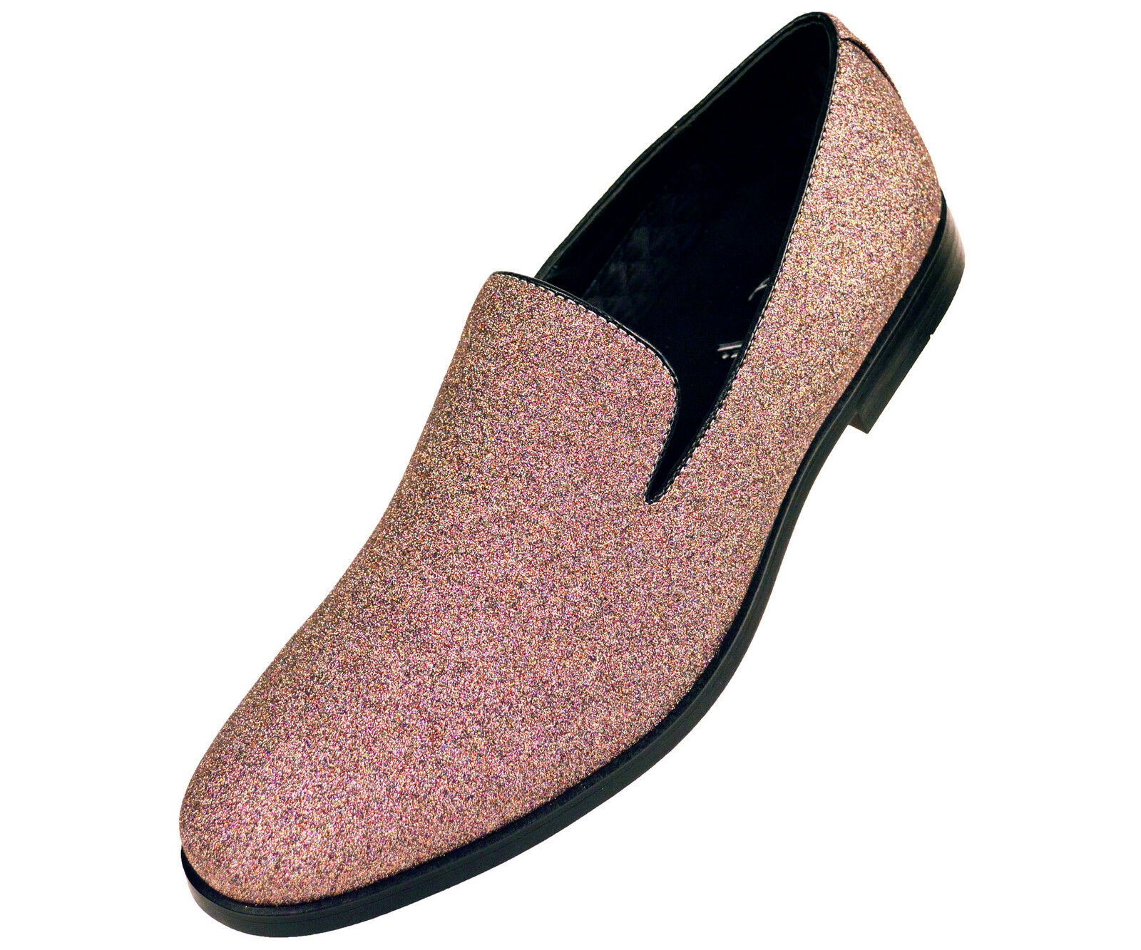 Amali Mens Multi Color Glitter Chinese Slipper Slip On Tux Dress Shoe Busby-462
