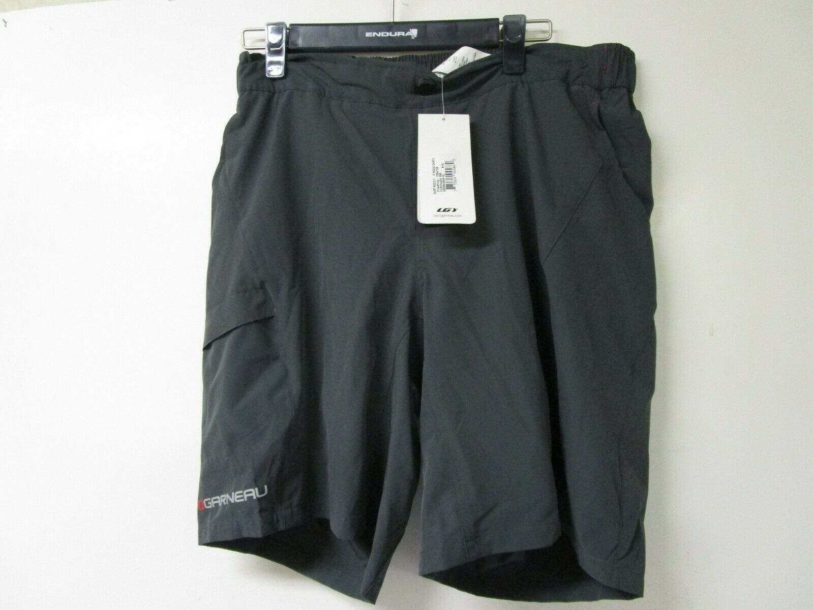Garneau donna Radius Bike Cycling Shorts XL Asphalt 1054126  nuovo with Tags