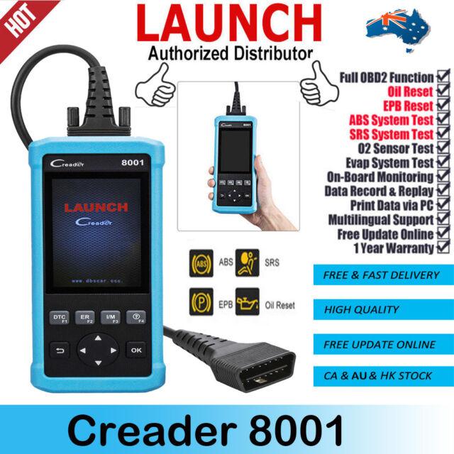 Launch Creader 8001 Diagnostic Tool Scanner Car OBDII Code Reader SRS ABS Airbag