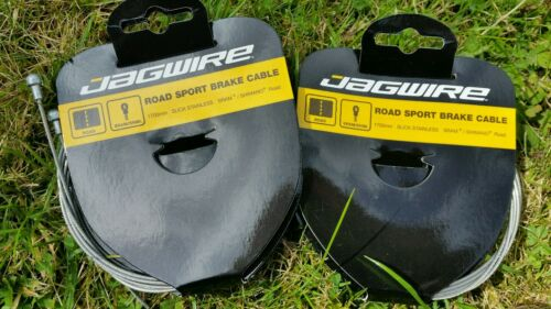 Jagwire Stainless Steel Road Brake Inner Cables.Pair Slick//Rust Proof.Shim//Sram