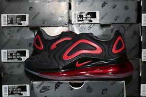 Nike-Air-Max-720-Mesh-Men-039-s-Casual-Shoes-Black-University-Red-CN9833-001-NEW