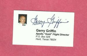 Gerry griffin signed apollo flight director nasa business card ebay image is loading gerry griffin signed apollo flight director nasa business colourmoves