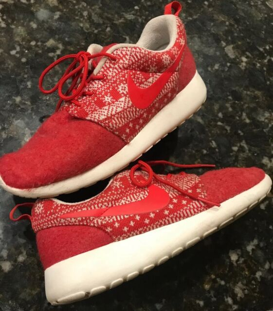 outlet store 15f77 45daf NIKE Women's ROSHE ONE Athletic Shoes Size 6.5 685286-661 Winter Snowflake  Red