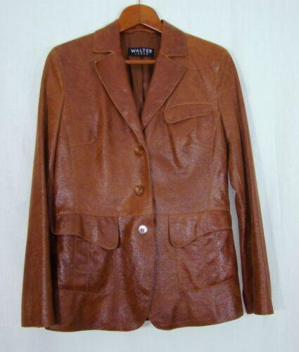 """Schöne Lederjacke """" Walter """"in der Größe 40 in braun Sakko Jacke Jacket Leder"""