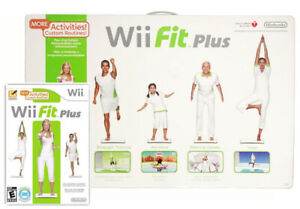 Nintendo-Wii-Fit-Plus-with-Balance-Board-and-manual-TESTED