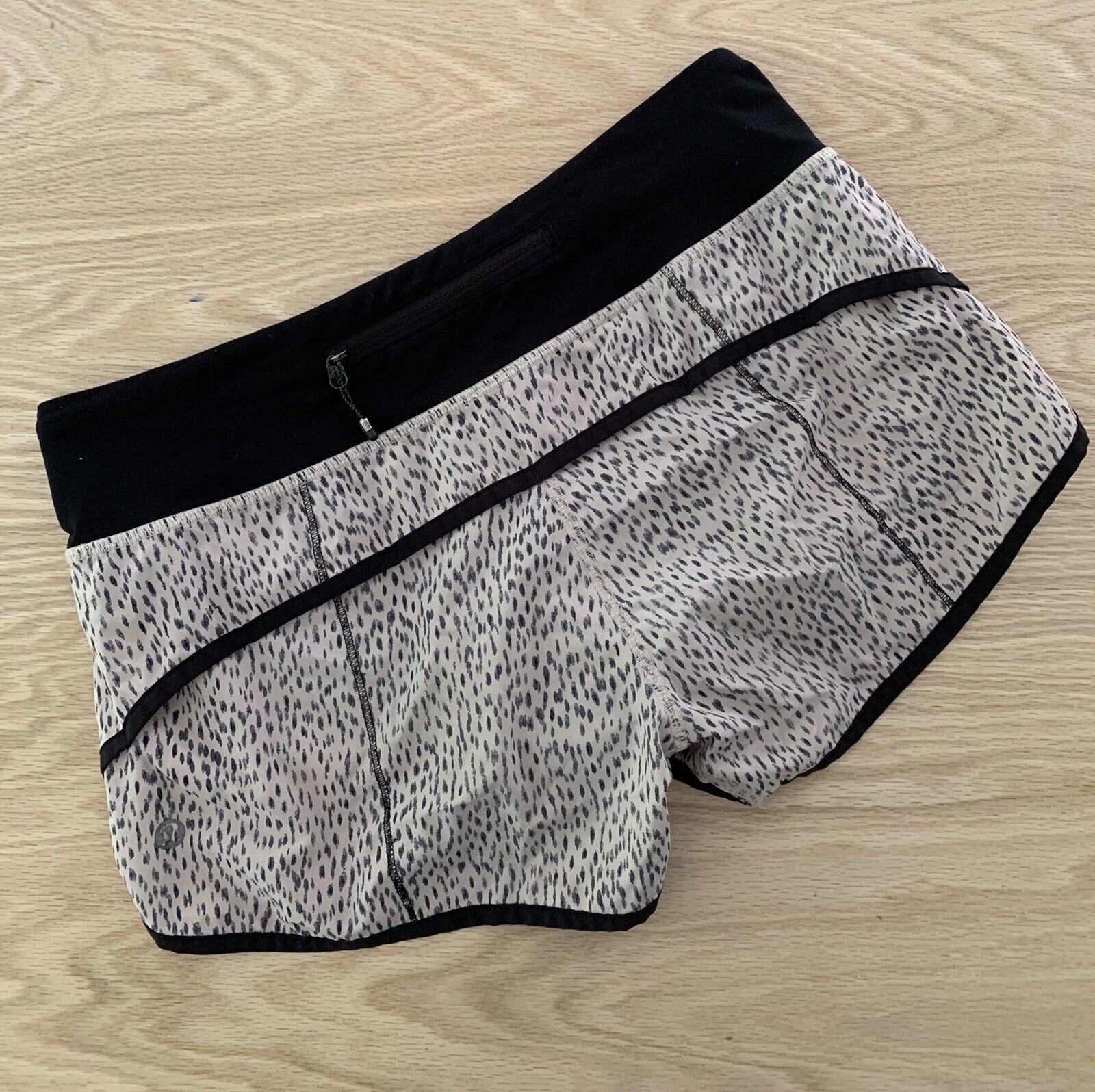"Lululemon Speed Shorts Size 4 Reg 2.5"" Dottie Das… - image 5"