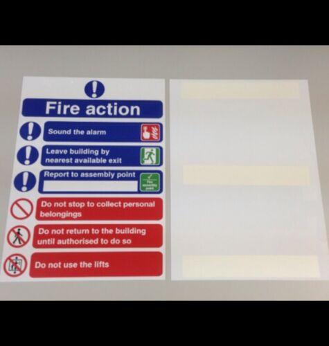 Segno Di Sicurezza Fire Action 210mm x 297mm