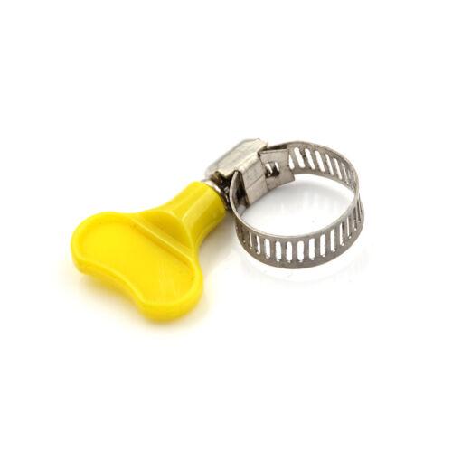 6 XStainless schmetterling Schlauchschelle Rohrschelle Rohr Kunststoffgriff FL