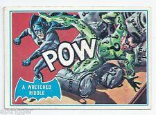 1966 Topps Batman Blue Bat with Bat Cowl Back (29B) A Wretched Riddle