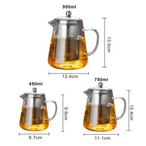 950mL-Heat-Resistant-Glass-Bottle-Teapot-Stainless-Steel-Infuser-Flower-Tea-Pot