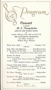 1962-Souvenir-Program-from-a-Concert-on-Board-the-Crusie-Ship-M-S-Kungsholm