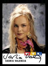 Saskia Valencia RTL Autogrammkarte Original Signiert # BC 96580