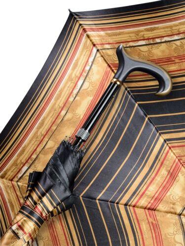 Regenschrim stützschirm Martim Colore Oro-linee blu 5 volte regolabile in altezza