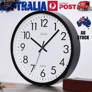 26cm Large Vintage Round Modern Wall Clock Home Bedroom Kitchen Quartz Silent AU 722342333195