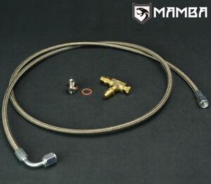 Universal-100cm-Garrett-GTX2867R-GT2871R-GT3071R-turbo-oil-feed-line-w-1-8NPT