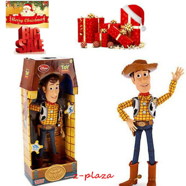 """16"""" WOODY Talking Doll Toy Story 3 Pull String Figure Sheriff Cow Boy Character"""
