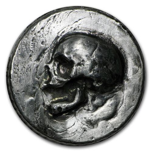 Skull MK Barz /& Bullion - SKU #95277 3 oz Silver Ultra High Relief Round