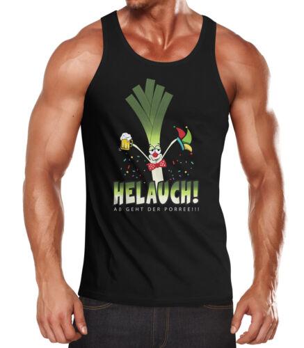 Messieurs multicolore Carnaval Carême helauch Poireau Helau Drôle Fun-Shirt