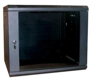 12U-19-034-390MM-Network-Cabinet-Rack-Wall-Mounted-Black-Data-Comms-Patch-Panel