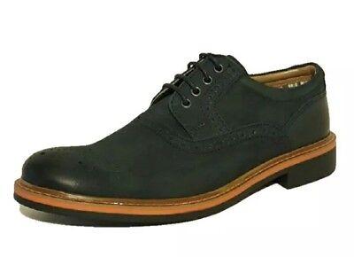 Affidabile Nuovo ???? Clarks ???? Uk 6 Blu Navy Atley Way Scarpe Di Pelle Nabuk Scarpe Da Uomo 39.5eu-k 6 Atley Way Navy Blue Nubuck Leather Brogues Shoes Mens 39.5eu It-it