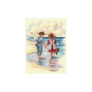 (Holding Hands) - Dimensions Counted Cross Stitch Kit 23cm x 30cm