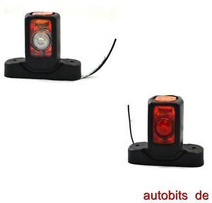 2-x-LED-12V-Begrenzungsleuchte-Seitenmarkierungsleuchte-Neu-PKW-LKW