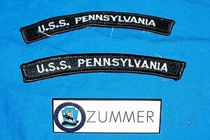 Uss pennsylvania submarine ssbn 735 pin patches coat jacket shirt navy