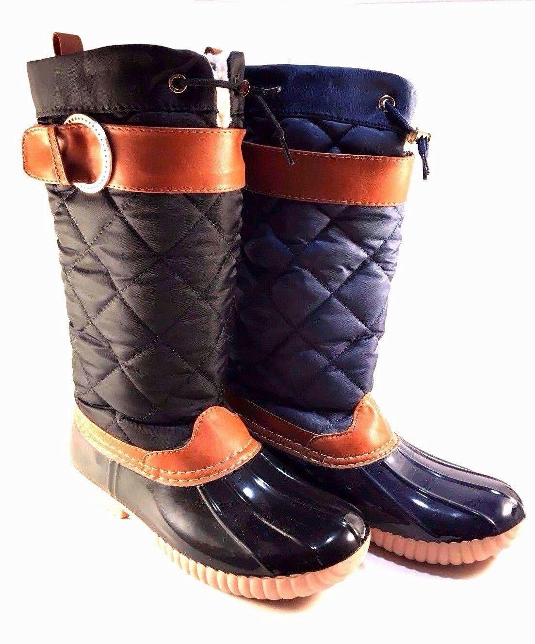 NY VIP B777 Rubber Nylon Mid-Calf Rainboots Choose Sz color