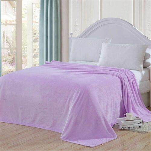 Mink Flannel Fleece Blanket Soft  PolyesterPlush Warm Bed Sofa Throw Blanket