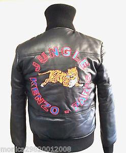 Padded Jacket Mens Size S M Black Kenzo Bomber LEbay Leather trsQChxd