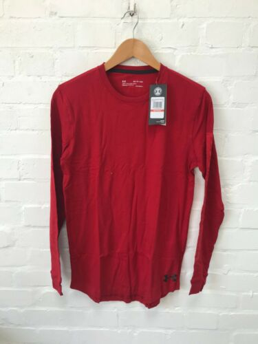 Under Armour Men/'s Long Sleeve Gym Active T-Shirt Red New
