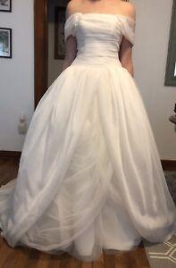 Details About Ivory By Vera Textured Organza Wedding Dress
