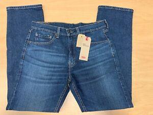 Levi-039-s-Men-039-s-505-Regular-Straight-Leg-Jeans-Dark-Wash-40-x-32-NWT-79