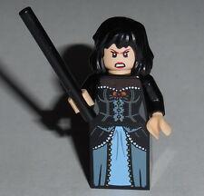 HARRY POTTER #34F Lego Bellatrix Lestrange w/wand Custom NEW Genuine Lego Parts