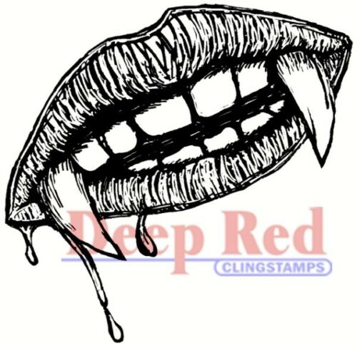 Deep Red Stamps Vampire SWAK Rubber Cling Stamp